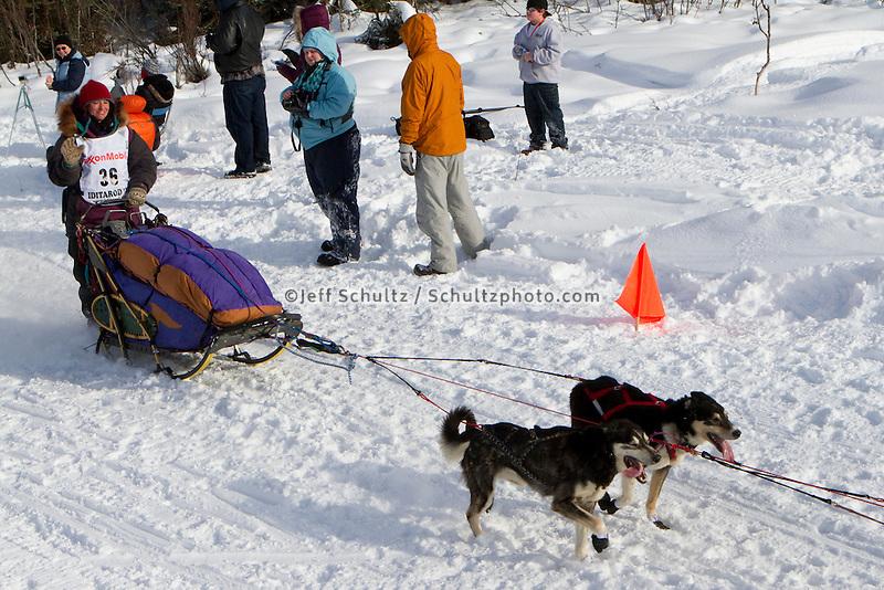 2010 Iditarod Re-start in Willow Alaska musher # 36 MICHELLE PHILLIPS