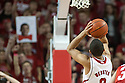 January 20, 2014: Tai Webster (0) of the Nebraska Cornhuskers shooting a free throw against the Ohio State Buckeyes at the Pinnacle Bank Arena, Lincoln, NE. Nebraska won in the game against Ohio State 68 to 62.
