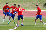 Spain's Nacho Fernandez, Diego Costa, Vitolo and Gerard Pique during training session. March 22,2017.(ALTERPHOTOS/Acero)