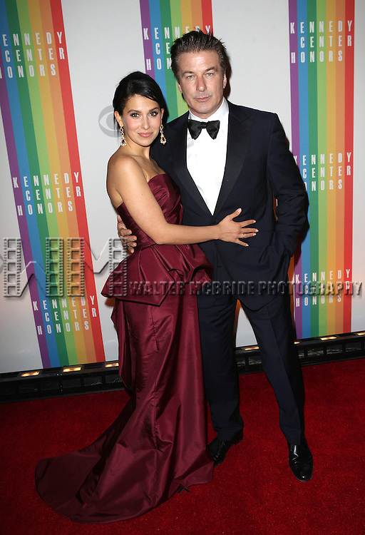 Hilaria Thomas & Alec Baldwin attending the 35th Kennedy Center Honors at Kennedy Center in Washington, D.C. on December 2, 2012