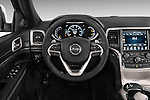 Car pictures of steering wheel view of a 2015 JEEP GRAND CHEROKEE Limited 5 Door SUV 4WD Steering Wheel