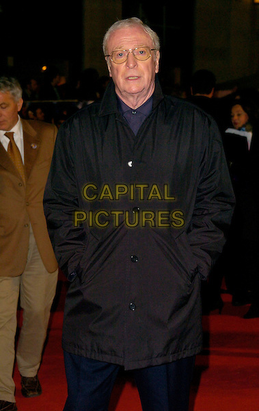 "SIR MICHAEL CAINE.""The Prestige"" UK film premiere.Odeon West End cinema, Leicester Square.5th November 2006 London, England.Ref: CAN.half length.www.capitalpictures.com.sales@capitalpictures.com.©Phil Loftus/Capital Pictures"