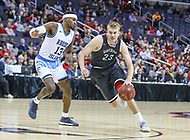 Washington, DC - March 11, 2018: Davidson Wildcats forward Peyton Aldridge (23) dribbles to the basket during the Atlantic 10 championship game between Rhode Island and Davidson at  Capital One Arena in Washington, DC.   (Photo by Elliott Brown/Media Images International)