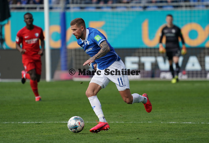 Tobias Kempe (SV Darmstadt 98) - 07.03.2020: SV Darmstadt 98 vs. VfL Bochum, Stadion am Boellenfalltor, 2. Bundesliga<br /> <br /> DISCLAIMER: <br /> DFL regulations prohibit any use of photographs as image sequences and/or quasi-video.