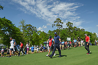 Phil Mickelson (USA) makes his way down 3 to the cheers of the gallery during round 1 of the Houston Open, Golf Club of Houston, Houston, Texas. 3/29/2018.<br /> Picture: Golffile | Ken Murray<br /> <br /> <br /> All photo usage must carry mandatory copyright credit (© Golffile | Ken Murray)