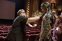 The Shape of Water (2017) <br /> Behind the scenes photo of Guillermo del Toro &amp; Doug Jones<br /> *Filmstill - Editorial Use Only*<br /> CAP/MFS<br /> Image supplied by Capital Pictures