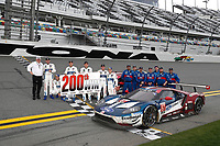 IMSA WeatherTech SportsCar Championship<br /> Rolex 24 Hours<br /> Daytona Beach, Florida, USA<br /> Sunday 28 January 2018<br /> Chip Ganassi celebrates his 200th win.  #66 Chip Ganassi Racing Ford GT, GTLM: Dirk M&uuml;ller, Joey Hand, S&eacute;bastien Bourdais, #67 Chip Ganassi Racing Ford GT, GTLM: Ryan Briscoe, Richard Westbrook, Scott Dixon<br /> World Copyright: Michael L. Levitt<br /> LAT Images<br /> <br /> ref: Digital Image _68I0837
