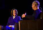 Catherine Cortez Masto, left, is interviewed by Bret Simmons during the Ted X event on Saturday, Jan. 27, 2018 at the Reno-Sparks Convention Center in Reno.