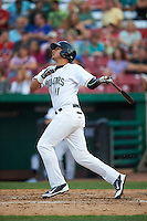 Kane County Cougars designated hitter Joe Munoz (11) at bat during a game against the Great Lakes Loons on August 13, 2015 at Fifth Third Bank Ballpark in Geneva, Illinois.  Great Lakes defeated Kane County 7-3.  (Mike Janes/Four Seam Images)