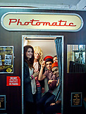 ENGLAND, Brighton, Young People in a Photomatic