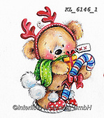 CHRISTMAS ANIMALS, WEIHNACHTEN TIERE, NAVIDAD ANIMALES, paintings+++++,KL6146/1,#xa#
