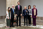 "Spanish king, Felipe VI and Antonio Fraguas de Pablo ""Forjes"" ,family after the Quevedos iberoamerican award of grafic humor 2014. May 26,2016. (ALTERPHOTOS/Rodrigo Jimenez)"