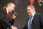 5 time winner Eddy Merckx (BEL) introduced on stage at the Tour de France 2019 route presentation held at Palais de Congress, Paris, France. 25th October 2018.<br />