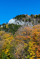 Mountain with peak autumn color.