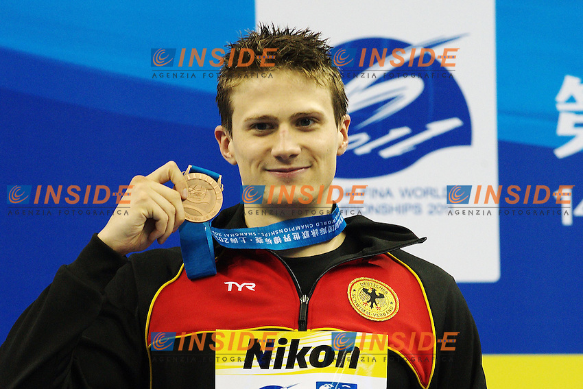 Christian VOM LEHN Germany Bronze medal.Men's 200m Breaststroke - Swimming / Nuoto.Shanghai 29/7/2011 .14th FINA World Championships.Foto Giorgio Scala Insidefoto