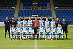St Johnstone FC Season 2017-18 Photocall<br />Pictured back row from left, Stewart MacFarlane Sports Science, George Browning U20 GK Coach,Shaun Struthers, Ciaran Brian, Jack Wilson, Ross Sinclair, Ben Quigley, Callum Hendry, Daniel Jardine, Mel Stewart Physio and Alastair Stevenson Youth Development Manager.<br />Front row from left, Cameron Thomson, Alistair McCann, Cameron Ballantyne, Jamie Mackenzie, Alex Cleland U20 Coach, Cameron Lumsden, John Robertson, Jamie Docherty and Euan O&rsquo;Reilly.<br />Picture by Graeme Hart.<br />Copyright Perthshire Picture Agency<br />Tel: 01738 623350  Mobile: 07990 594431