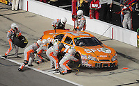May 1, 2009; Richmond, VA, USA; NASCAR Nationwide Series driver Peyton Sellers pits during the Lipton Tea 250 at the Richmond International Raceway. Mandatory Credit: Mark J. Rebilas-
