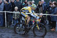 WIELRENNEN: SURHUISTERVEEN: 03-01-2013, 18e Centrumcross, winnaar Rob Peeters (Telenet-Fidea | België), ©foto Martin de Jong