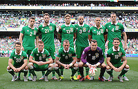 13th June 2013; Euro 2016 Qualifier, Republic of Ireland vs Scotland, Aviva Stadium, Dublin. <br /> The Republic of Ireland team.<br /> Picture credit: Tommy Grealy/actionshots.ie.