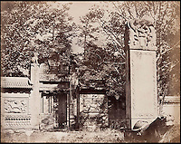 BNPS.co.uk (01202 558833)<br /> Pic: FeliceBeato/BNPS<br /> <br /> ****Please use full byline****<br /> <br /> Cemetery near Pekin.<br /> <br /> Some of the very first photographs of China that showed the western world what the Far East looked like are tipped to sell for &pound;70,000.<br /> <br /> The photos were shot by renowned photographer Felice Beato who travelled with the British Army during the Indian Rebellion and the Second Opium War in China.<br /> <br /> He captured the Imperial Summer Palace in Beijing before it was destroyed by fire by Empire forces.<br /> <br /> His snaps also include a folding panorama view of Hong Kong harbour, the Forbidden City in Peking, a pagoda and grim images of slain Chinese soldiers at a fort.