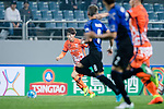 Jeju United Forward Ahn Hyunbeom (L) in action during the AFC Champions League 2017 Group H match Between Jeju United FC (KOR) vs Gamba Osaka (JPN) at the Jeju World Cup Stadium on 09 May 2017 in Jeju, South Korea. Photo by Marcio Rodrigo Machado / Power Sport Images