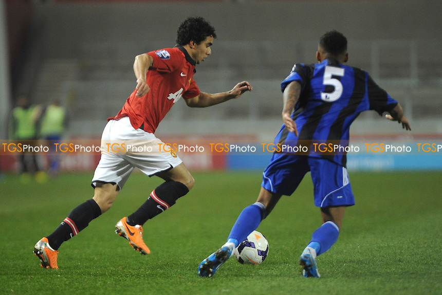 Fabio Da Silva of Manchester United controls the ball - Manchester United Under-21 vs Middlesbrough Under-21 - Barclays Under-21 Premier League Football at Salford City Stadium, Manchester - 20/01/14 - MANDATORY CREDIT: Greig Bertram/TGSPHOTO - Self billing applies where appropriate - 0845 094 6026 - contact@tgsphoto.co.uk - NO UNPAID USE