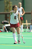 STANFORD, CA - AUGUST 18:  Katie Mitchell of the Stanford Cardinal during Stanford's 3-1 win over University of the Pacific in a scrimmage at the Varsity Turf Field on August 18, 2009 in Stanford, California.