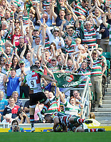 Aviva Premiership Final .Twickenham, England. Steve Mafi of Leicester Tigers scores a try during the AVIVA Premiership Final between Harlequins and Leicester Tigers at Twickenham Stadium on May 26, 2012 in London, United Kingdom.
