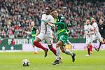 10.02.2019, Weserstadion, Bremen, GER, 1.FBL, Werder Bremen vs FC Augsburg<br /> <br /> DFL REGULATIONS PROHIBIT ANY USE OF PHOTOGRAPHS AS IMAGE SEQUENCES AND/OR QUASI-VIDEO.<br /> <br /> im Bild / picture shows<br /> Milot Rashica (Werder Bremen #11) spielt ReeceOxford (FC Augsburg #05) aus und trifft im Anschluss zum 3:0, Entstehung, <br /> <br /> Foto &copy; nordphoto / Ewert