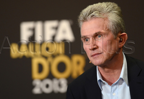 13.01.2014. Zurich, Switzerland.  Former FC Bayern Munich's head coach Jupp Heynckes of Germany , nominee for the FIFA Men's World Coach of the Year Award, attends a press conference of the FIFA Ballon d'Or Gala 2013 held at the Kongresshaus in Zurich, Switzerland, 13 January 2014.