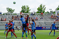 Boyds, MD - Sunday July 31, 2016: Tasha Kai, Joanna Lohman during a regular season National Women's Soccer League (NWSL) match between the Washington Spirit and Sky Blue FC at Maureen Hendricks Field, Maryland SoccerPlex. The Washington Spirit defeated Sky Blue FC 3-1.