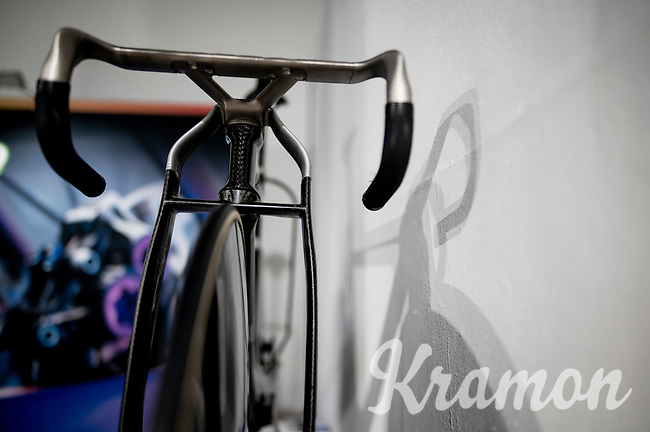 """The official track bike for the British Olympic Team for Tokyo2020 by British Cycling in a collaboration with Lotus Engineering and manufacturing by Hope Technology<br /> <br /> as displayed at the Rouleur Classic London 2019<br /> """"The World's Finest Road Cycling Exhibition""""<br /> <br /> ©kramon"""