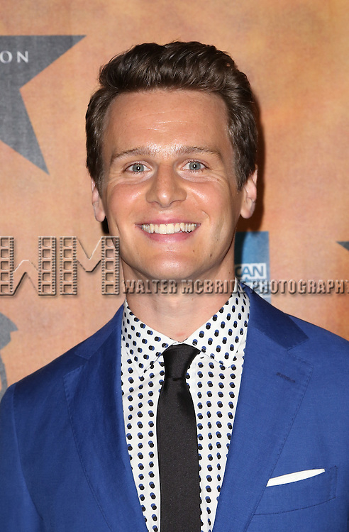 Jonathan Groff attends the 'Hamilton' Broadway Opening Night After Party at Pier 60 on August 6, 2015 in New York City.