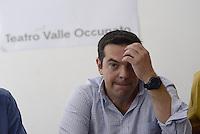 Roma, 18 Luglio 2014.<br />  Alexis Tsipras candidato de L'Altra Europa alla presidenza della Commissione EU e leader Syriza,al teatro Valle occupato durante un incontro sulla cultura.<br /> Alexis Tsipras at Teatro Valle occupied speaking about culture.