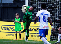 Lautoka's Ben Mateinaqara makes a save during the Oceania Football Championship final (first leg) football match between Team Wellington and Lautoka FC at David Farrington Park in Wellington, New Zealand on Sunday, 13 May 2018. Photo: Dave Lintott / lintottphoto.co.nz