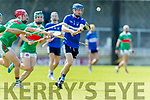 Jean McKenna in action against Brendan O'Connor St Brendans in the Kerry Senior Hurling Championship at Austin Stack Park on Saturday.