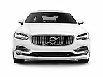White 2017 Volvo S90 T6 AWD luxury car front view isolated on white background with clipping path Image © MaximImages, License at https://www.maximimages.com