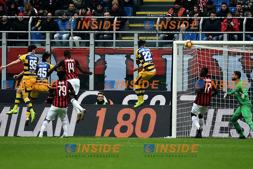gol Roberto Inglese . Goal Parma 0-1 <br /> Milano 2-12-2018 Stadio San Siro Football Calcio Serie A 2018/2019 AC Milan - Parma Foto Image Sport / Insidefoto