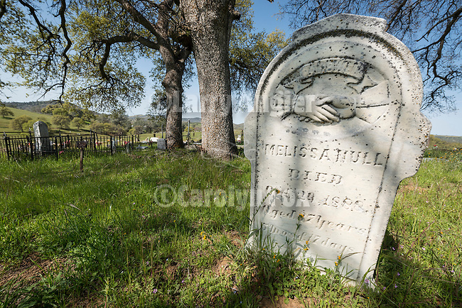 Historic 19th century Gold Rush era City Cemetery, Chinese Camp, Calif...Melissa Hull