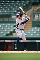GCL Rays center fielder Jake Stone (8) at bat during a game against the GCL Orioles on July 21, 2017 at Ed Smith Stadium in Sarasota, Florida.  GCL Orioles defeated the GCL Rays 9-0.  (Mike Janes/Four Seam Images)
