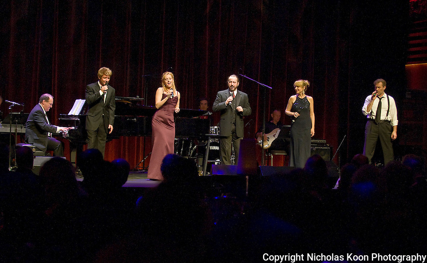"The cast of  Neil Berg's ""100 Years of Broadway"",  performs at the Philharmonic Society of Orange County's 2012 Gala."