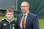 David Lloyd poses with a fan at the Ireland v England One Day Cricket International held at Malahide Cricket Club, Dublin, Ireland. 8th May 2015.<br /> Photo: Joe Curtis/www.newsfile.ie