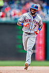 1 August 2018: New York Mets infielder Jose Reyes rounds the bases after hitting a solo home run in the 8th inning against the Washington Nationals at Nationals Park in Washington, DC. The Nationals defeated the Mets 5-3 to sweep the 2-game weekday series. Mandatory Credit: Ed Wolfstein Photo *** RAW (NEF) Image File Available ***