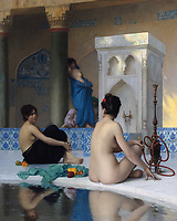 After the bath - apres le bain<br /> par Jean-Leon Gerome
