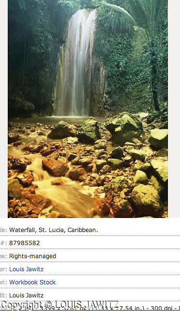 St. Lucia, DIAMOND FALLS