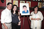 Michael McGrath with daughter Kathleen  & wife.attending the unveiling of the Sardi's caricature for the Tony Award-winning star of 'Nice Work If You Can Get It', Michael McGrath on July 12, 2012 in New York City.