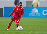 CARSON, CA - March 25, 2012: Javier Cadeno (15) of Panama during the Panama vs Trinidad & Tobago match at the Home Depot Center in Carson, California. Final score Panama 1, Trinidad & Tobago 1.