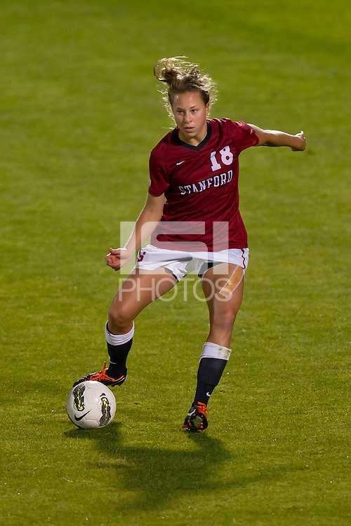 STANFORD, CA - OCTOBER 7: Stanford defeats USC 3-0 in a women's soccer match on October 7, 2011 in Stanford, California.