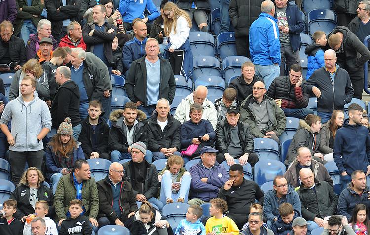 Preston North End fans enjoy the pre-match atmosphere <br /> <br /> Photographer Kevin Barnes/CameraSport<br /> <br /> The EFL Sky Bet Championship - Preston North End v Barnsley - Saturday 5th October 2019 - Deepdale Stadium - Preston<br /> <br /> World Copyright © 2019 CameraSport. All rights reserved. 43 Linden Ave. Countesthorpe. Leicester. England. LE8 5PG - Tel: +44 (0) 116 277 4147 - admin@camerasport.com - www.camerasport.com