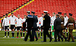 members of the armed forces carry out wreaths during the Emirates FA Cup Round One match at Bramall Lane Stadium, Sheffield. Picture date: November 6th, 2016. Pic Simon Bellis/Sportimage